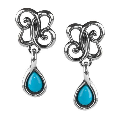 Sterling Silver Sleeping Beauty Turquoise Drop Earrings Carolyn Pollack