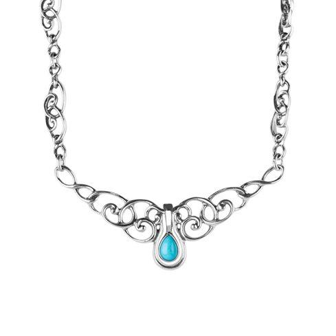 Sleeping Beauty Turquoise Pendant Necklace
