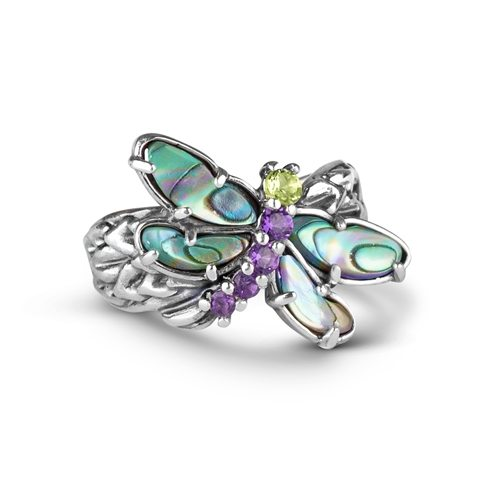 Wings Sterling Silver Multi Gemstone Bold Ring