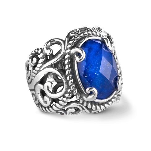 Sterling_Silver_Lapis_Crystal_Quartz_Doublet_Ring