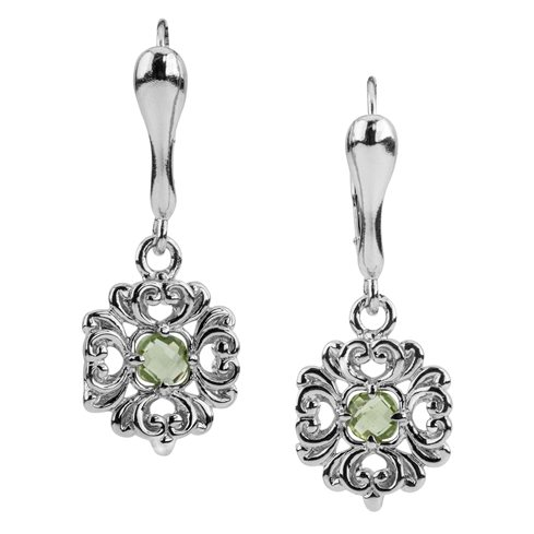 Harmony Sterling Silver Peridot Earrings