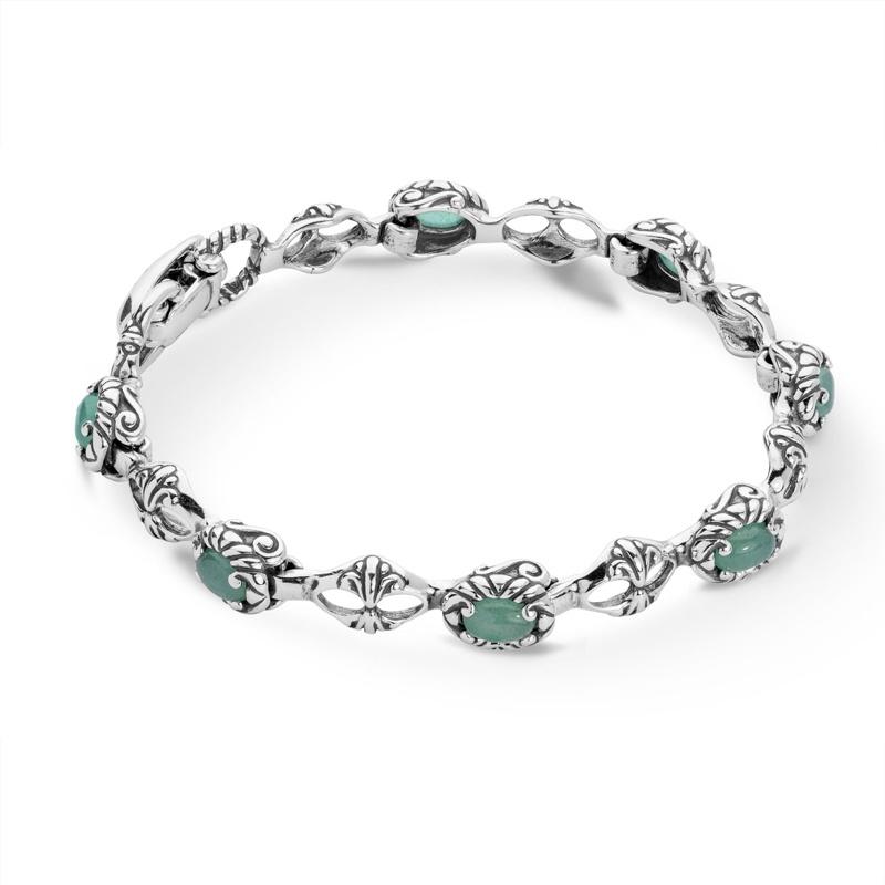 Joyful_Gems_Sterling_Aventurine_Tennis_Bracelet